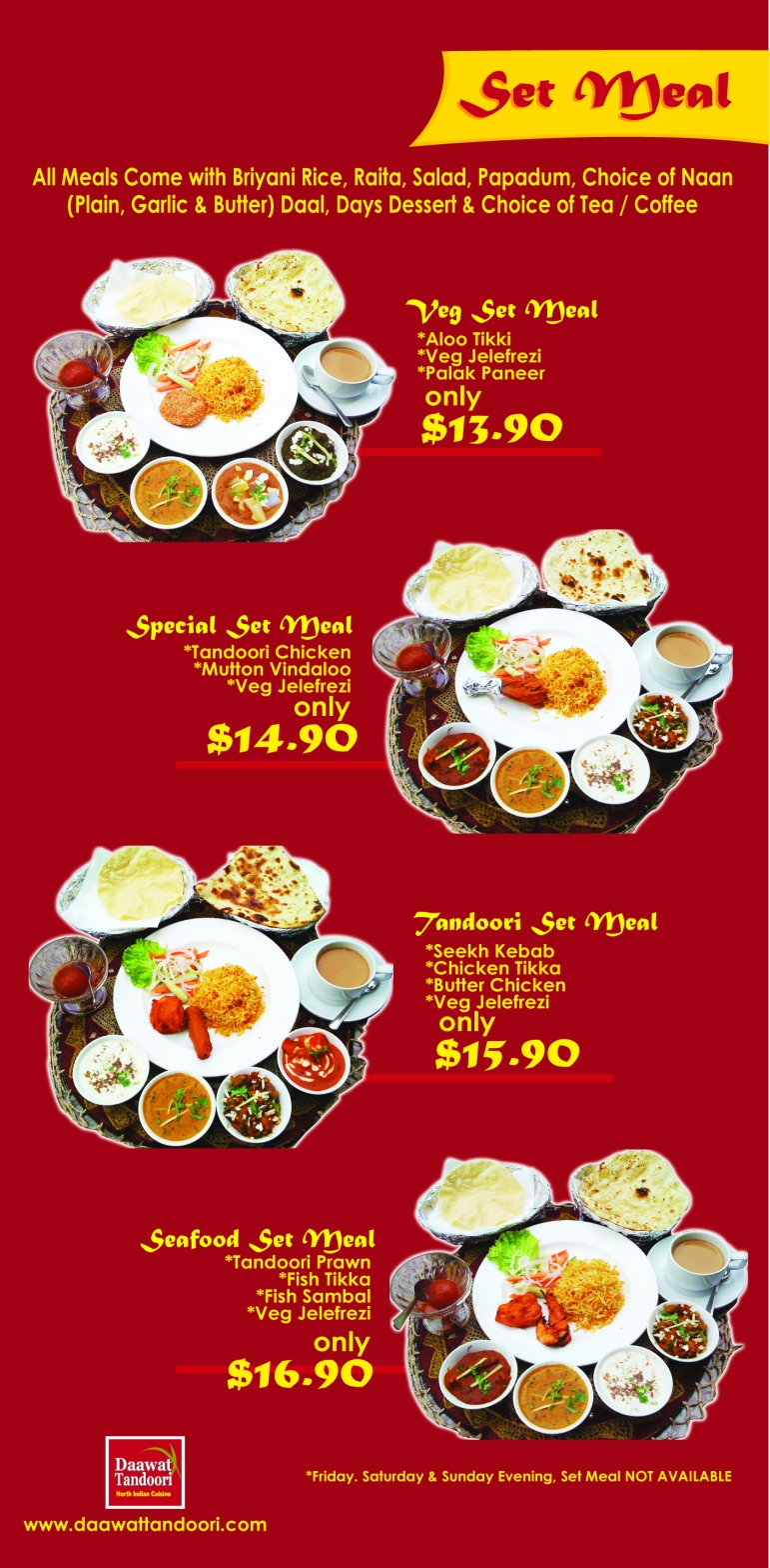 19.5 X 39.75 in _daawat menu set